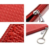 ans key - Fashion Women Small Coin Bags Purse Candy Colors Genuine Leather Clutch Wallet Key Holder Mobile Phone Bag ANS CL