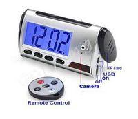 Wholesale Hot sale Spy Hidden Camera Alarm Clock Remote ControL Motion Detection Spy Cameras DVR