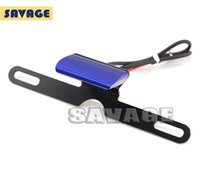 Wholesale Blue New Universal Motorcycle License Plate LED Light For YAMAHA MT MT MT MT