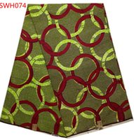 Wholesale wax print fabric SWH074 african wax printing cotton wax fabric yards piece