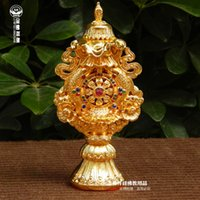 Wholesale Margin Cheung Yiwu Golden Buddha combination of large bright gold ornaments Tantric Buddhist supplies eight auspicious Tibetan