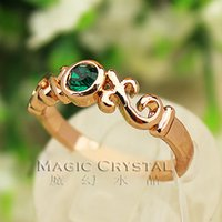 apple red tiara - Red Apple fashion Jewelry Wholesale18k rose gold plated green Crystal Rings Wedding birthday gift