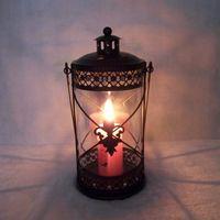 Wholesale Iron Candlestick large cylindrical creative Moroccan style wedding lantern ornaments