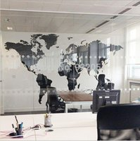 background black - New Black Map Of the World Wall Sticker Office Background Wall decal Creative Removable Vinyl Decals Home Decor