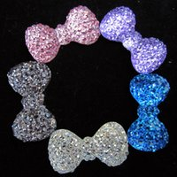 Wholesale Bowknot Shape Resin Beads mm Many Colors Bowknot Shape Flatback Resin Rhinestone High Luster Glue on Diy