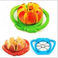 apple wedger - 2015 Apple fruit Slicer Fruit Knife Apple Pear Corer Slicer Cutter Core Handed Wedger Fruit Easy Cut Apple cut stainless steel BBA3464