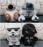 Wholesale Star Wars E7 Plush doll cm The Force Awakens BB R2 D2 Trooper Darth Vader Plush Pillow Deformed Comic Images Plush Toy
