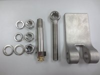 Wholesale Casted stainless steel L material weld on hinge palte flat type smooth surface round cornors no sharp eges