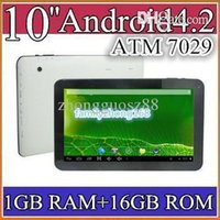 Wholesale quot Android Quad core tablet pc ATM7029 dual camera tablet with Built in bluetooth Capacitive Touch GB GB