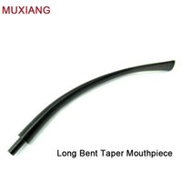 Cheap Wholesale-MUXIANG Reading Pipe Specialized Bent Taper Long Mouthpiece Briar Wood Pipe Mouthpiece China Supplier be0047