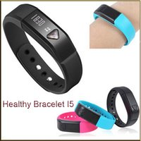 vibrating bracelet - Bluetooth Bracelet I5 healthy Smartwatch wristhand watch smart watch Clock Vibrating Pedometer Mileage Sleep mode Calorie