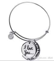 Wholesale 5pcs mixed Designs Alex and ani trade hot i love you to the moon and back pendants bracelets