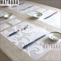 bamboo table mat - Fashion Print PP Placemat Coasters Disc Pads Dining Table Mat Heat Insulation Pad coasters placemat