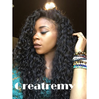 Wholesale Cheap Brazilian Deep Curl - Cheap Brazilian Indian Deep Curl Remy Virgin Hair Lace Front Human Hair Wigs for Black Women Greatremy Factory Outlet Full Lace Natural Hair