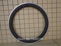 aluminum alloy rims - C mm clincher rim Road bike wheels matte K carbon fibre bicycle wheels rims with aluminum alloy brake surface