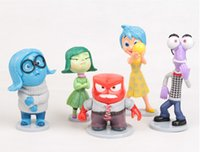 anger free - 5 Set Inside Out PVC Action Figures cm Fear Happiness Sadness Anger Kids Dolls Toys For Boys Girls A
