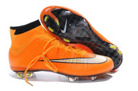 gold spikes - Nike Men s Mercurial Superfly FG Shoes Soccer Boots Cleats Laser Men Superfly Shoes Soccer Shoes Football Shoes Orange Gold