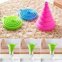 Wholesale pc Lovely Candy Color Funnel Household Necessary Telescopic Silicone Mini Funnel for Home Kitchen Tools