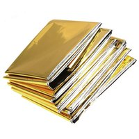Wholesale Retain Body Heat Emergency Blanket Space Rescue Thermal Mylar Blankets Security And Protection cm x cm