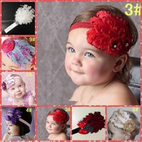 Wholesale Cheaper Feather Headbands - Wholesale 2015 Lovely Baby Feather Princess Headbands Kids Children Hair Accessories Babies Princess Crown Headbands Cheap Sale 9 Colors