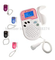 Wholesale Prenatal Fetal Doppler LCD Screen Backlight Built in Speaker Home Use Baby Pocket Heart Rate Monitor Mhz Probe Pregnancy Fetus