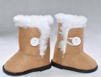 Wholesale factory price Environmental protection quot INCH DOLL SHOES for AMERICAN GIRL plush gray beige boots W3245