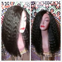Wholesale Hot Real Hair Yaki Kinky Straight U Part Wig For Sale Woman People Hair Upart Wig For Black Woman