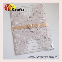 Wholesale lace flower handmade formal invitation card