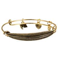 Wholesale Alex and Ani Retro Bracelets Bangles Alloy Gold Silver Feather Heart Flag Leaf Pendant Charm Bracelet for Men Women Girls Gifts