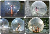 Wholesale 2 Meters Diameter Fun Entertainment PVC Inflatable Water Walking Ball Transparent Giant Water Ball Zorb Ball Ballon