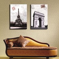 arch wall mirror - Modern Eiffel Tower Triumphal Arch Wall Picture French Art Decorative Paintings Print Wall Paintings Decors Piece No Frame