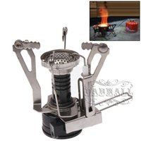 camping stove - Gas Stove Outdoor Portable Ultra Mini Stainless Steel Gas Stove Outdoor Gas Stove for Backpack Hiking Camp Furnace NO Outdoor Gear