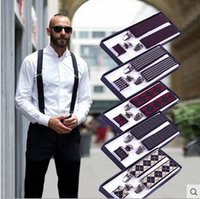 Cheap Groom Wear & Accessories suspenders and bow ties men's suspenders gift set and wedding bow tie bowknot