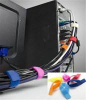 cable tidy - 10 X Reuseable Velcro Wire Magic Cable Ties Straps Cable Tidy Wrap replace Marker Straps Velcro Retail computer
