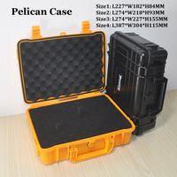Wholesale Pelican Case Waterproof Safe Equipment Instrument Box Moistureproof Locking For Multi Tools Camera Laptop VS Ammo Aluminium Flight Case
