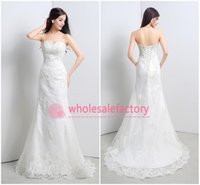Trumpet/Mermaid Reference Images Sweetheart 2015 Hot Real Image Mermaid Wedding Dresses Sweetheart Appliques Beads Lace Up Sweep Train White Ivory Beach Bridal Gowns CPS127