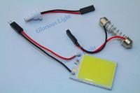 car dome light - 50PCS SMD COB Chip LED Car Interior Light T10 Festoon Dome Adapter V Car Vehicle LED Panel Lamps