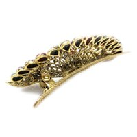 Wholesale x Jewelry Crystal Peacock Hair Clip for hair clips Beauty Tools order lt no track