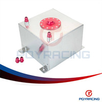 Wholesale PQY STORE GALLON L RACING ALUMINUM GAS FUEL CELL TANK WITH BILLET RED CAP AN10 FUEL SURGE TANK PQY TK70