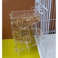 acrylic parrot cages - Clear Acrylic Pet Parrot Bird Automatic Cage Feeder Size Small Single Hopper