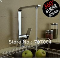 Wholesale Kitchen Deck Mounted Brass Chrome Sink Faucet Mixer Tap Cock Crane Water Tap Swivel Spout Hot and Cold