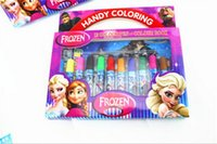 Wholesale Frozen Baby Suits Watercolor Pen Colouring pictures P Color Stickers Kids Holiday Gift Children Puzzle Painting JL