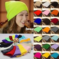 beany hats - New Arrive Plain Beanie Knit Ski Cap Skull Hat Warm Solid Warm Cuff Blank Beany