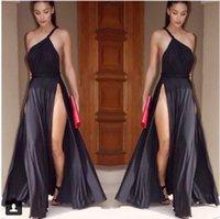 Cheap 2015 Women's the Latest single shoulder sling vest dress sexy split ends dress vestidos de fiesta QZ4016050