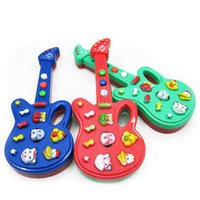 baby guitar toy - Cute Baby Kids Novel Electric Guitar Music Piano Toys Game Music Instrument Guitar Baby Electronic Guitar Toys With Kid s S
