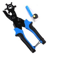 belt makers tool - Leather Hole Punch Pliers Hand Tools Belt Round Flat Hole Maker BLUE PLASTIC handle