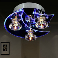 Wholesale Moon And Star Modern Crystal Chandelier Ceiling Led Light Fixtures Lamp Vintage Lights For Dining Room Us24