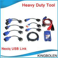 Engine Analyzer automotive installers - HOT Selling NEXIQ USB Link Software Diesel Truck Diagnose Interface and Software with All Installers DHL Free Fast Shipping