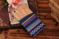 Cheap Hard Plastic PC Case Wood Wooden Grain Credit Card Slot Aztec Tribe Nation For Iphone 6 6G 4.7'' 5.5'' inch 6plus Skin cover luxury 200pcs