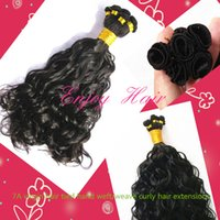 Curly woven tie - New arrive TOP quality A brazilian weave tied hand weft hair extensions brazilian hair bundles hair weave curly and natural color